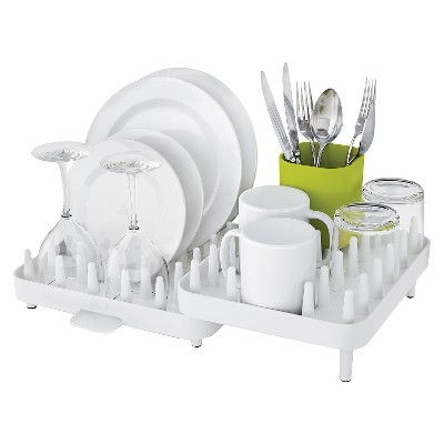 Joseph Joseph Connect™ Adjustable 3 Piece Dishrack- White