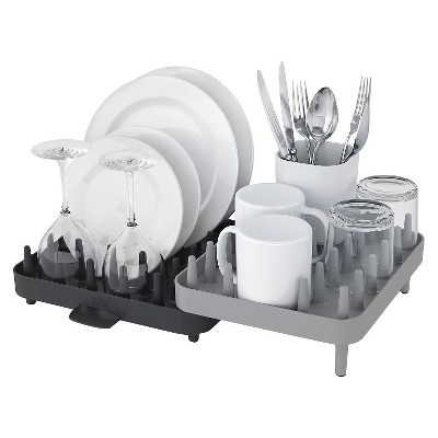 Joseph Joseph Connect™ Adjustable 3 Piece Dishrack- Grey
