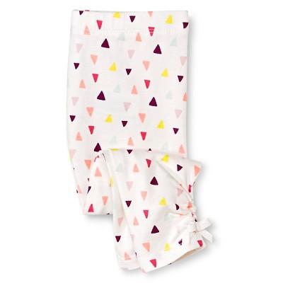 Newborn Girl Legging Pant - Almond Cream 6-9 M