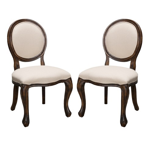 Woodridge Fabric Side Chair Wood Set of 2 Ch Tar