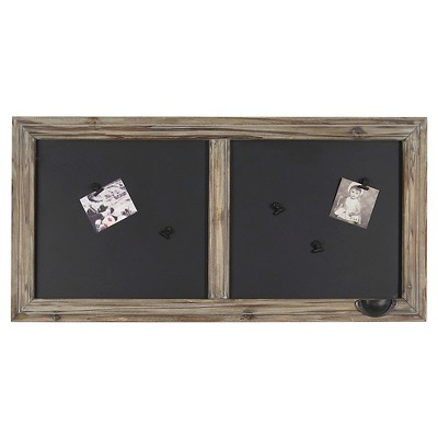 "Wood Windowpane Chalkboard 31""x14"""