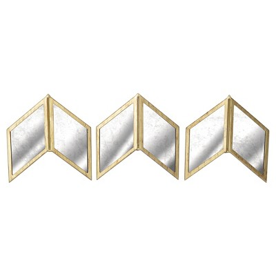 "Glass Arrow Wall Décor 18""x6"" - Set of 3"