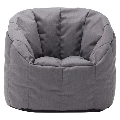 Small Bean Bag Club Chair - Gray - Pillowfort™