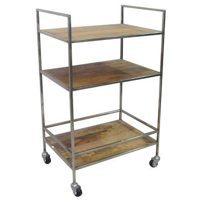 Wood and Nickle Bar Cart - Threshold™