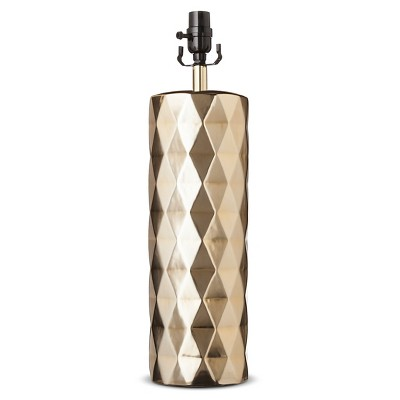 Metallic Ceramic Lamp Base Large - Gold Plated (Includes CFL Bulb) - Threshold™