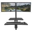 BALT Up Rite Desk Mounted Sit/Stand Workstation - Double - 27 1/8 x 30 x 42 - Dark Gray