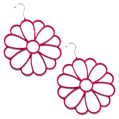 Joy Mangano 2 Pack Fashion Flower Accessory Hanger - Pink