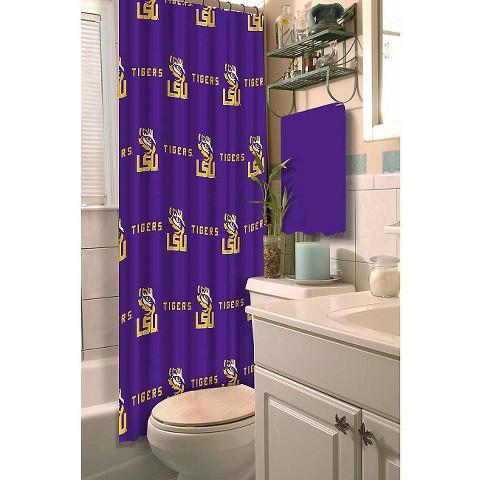 NCAA LSU Tigers Shower Curtain Multi Colored