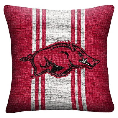 NCAA Arkansas Razorbacks Woven Pillow - Multi-Colored