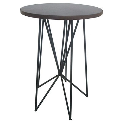 Mixed Material Accent Table Black - Room Essentials™