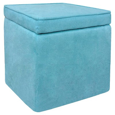 Room Essentials™ Cube Storage Ottoman - Light Blue