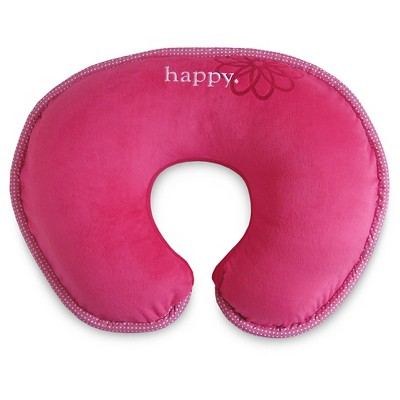 Boppy Luxe Pillow Pink Happy