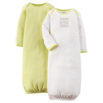 Just One You™ Made By Carter's® Newborn Nightgown - Green 0-3 M