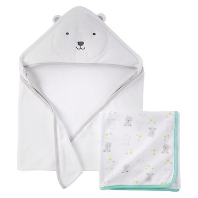 Just One You™ Made By Carter's® Newborn Boys' Hooded Bath Towel - Winter White