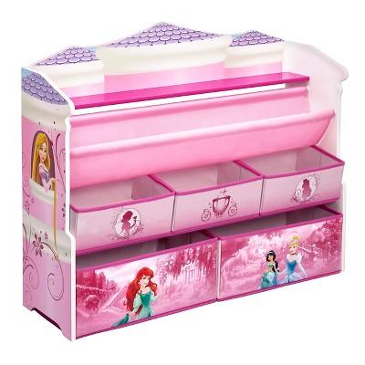 Deluxe Book & Toy Organizer Disney Princess - Delta Children