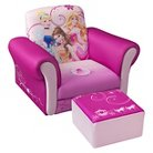Delta Children Upholstered Chair with Ottoman - Disney Princess