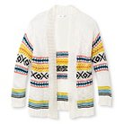 Girls' Tribal Design Open Front Cardigan White M (7-8) - Xhilaration™