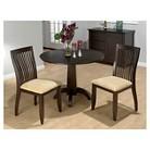 Jofran Chianti 3 Piece Bistro Set with Upholstered Chairs - Dark Brown