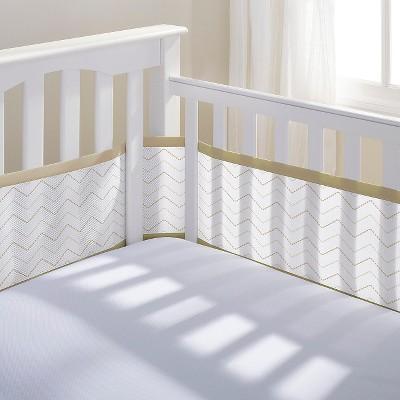 Breathable Baby® Chevron Mesh Liner - Khaki