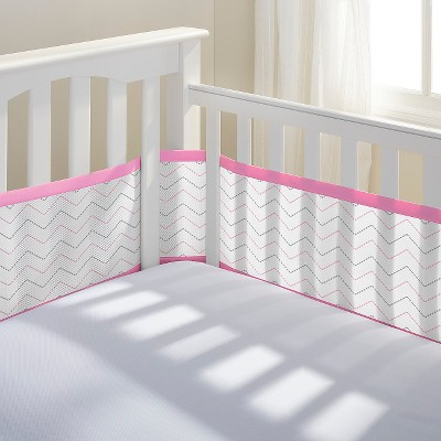 Breathable Baby® Chevron Mesh Liner - Pink