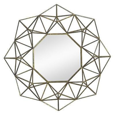 Nate Berkus™ Large Gold Geometric Mirror