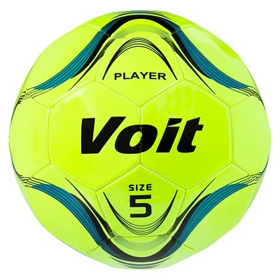 Voit Player Size 5 Deflated Soccer Ball Neon Yellow