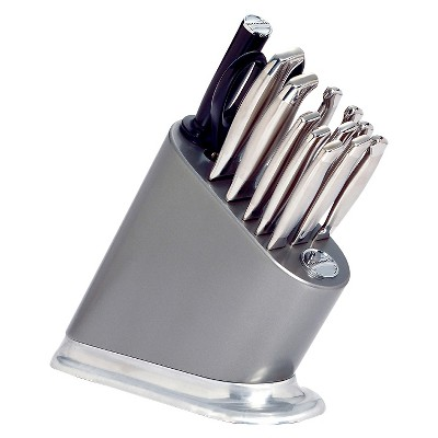 KitchenAid® Iconic Silverite Painted Cutlery Block with Aluminum Polished Base