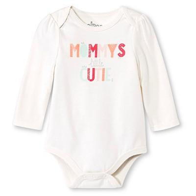 Newborn Girls' Bodysuit - Almond Cream 6-9 M