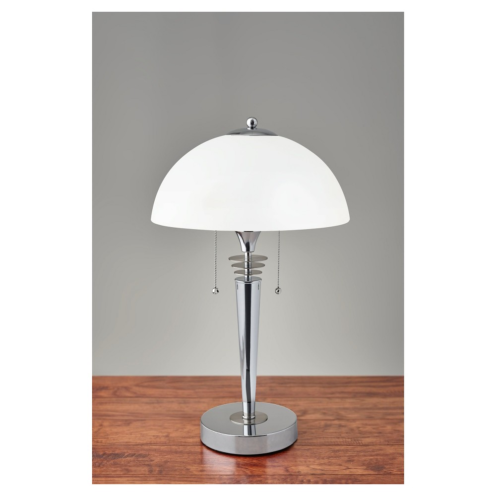 Silver lamps bourgie silver table lamp silver lamp for Adesso metropolis floor lamp silver