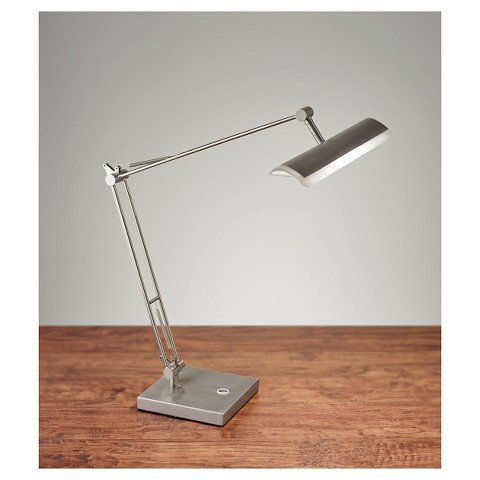 adesso clerk led desk lamp light silver product details page. Black Bedroom Furniture Sets. Home Design Ideas