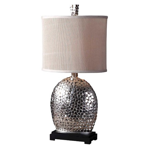 uttermost harrison table lamp brushed nickel product details page. Black Bedroom Furniture Sets. Home Design Ideas