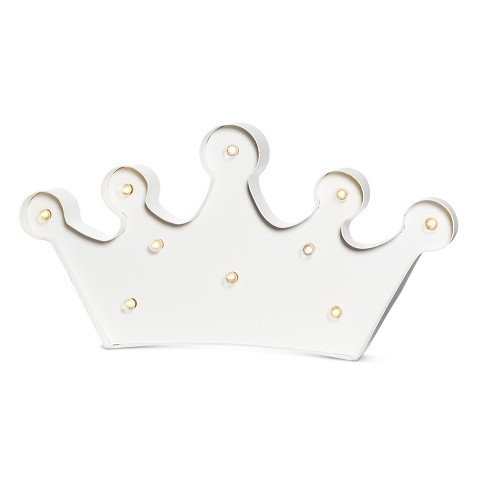 Crown LED Marquee Light - Cream