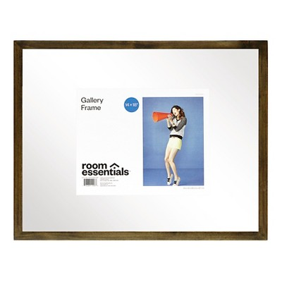 Float Frame - Grey - 14x18 Glass for 11x14 Photo - Room Essentials™