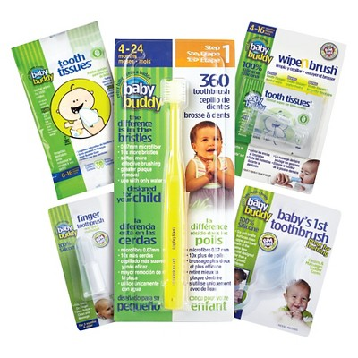 Baby Buddy Infant Oral Care Set - Yellow/Clear