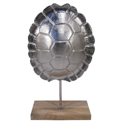 Threshold Silver Turtle Shell on Stand - Large