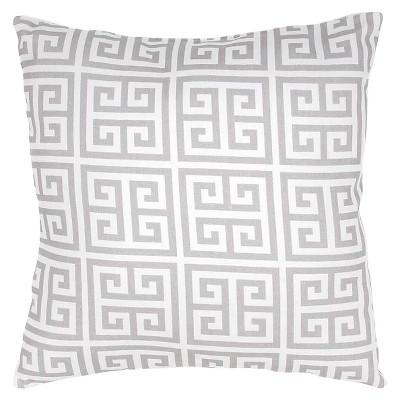 "Jaipur Veranda Handmade Polyester Pillow - Grey/Ivory (18""X18"")"