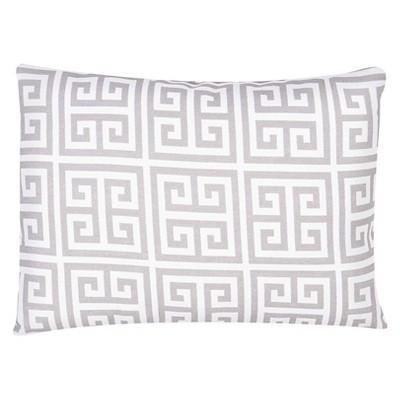 "Jaipur Veranda Handmade Polyester Pillow - Grey (13""x18"")"