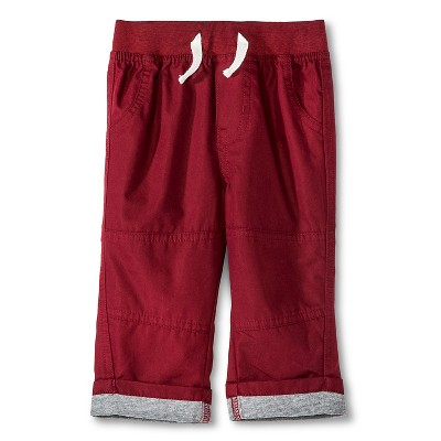 Ecom M Cr Fashion Pants Berry Maroon 12  MONTHS
