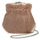 TEVOLIO™ Beaded Metal Cinch Clutch Handbag with Kiss Lock Clasp - Rose Gold