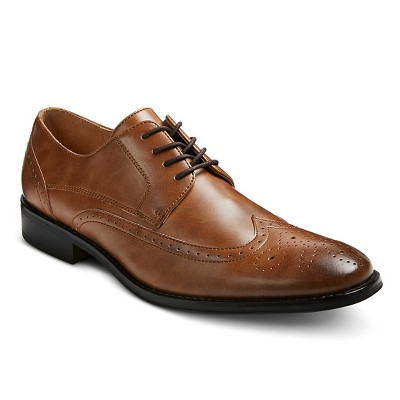 Men's Eaton Wingtip Oxfords - Tan - 8.5 - Merona™