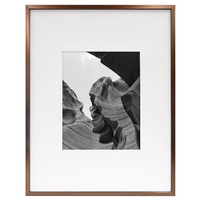 "8""x10"" Frame with Mat Silver- Room Essentials™"