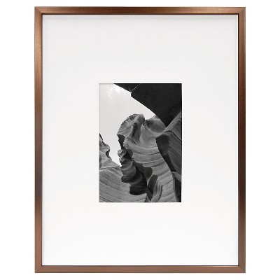 Metal Frame - Bronze - 11x14 Matted for 5x7 Photo - Room Essentials™