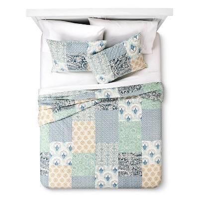 Seascape Quilt Set - Blue/White (Full/Queen)