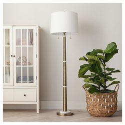 Adesso Hudson Floor Lamp Brown Target