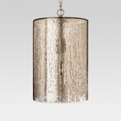 Mercury Glass Cylinder Pendant - Silver - Threshold™