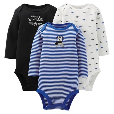 Just One You™ Made By Carter's® Newborn Boys' 3-Pack Bodysuit - Blue 6 M