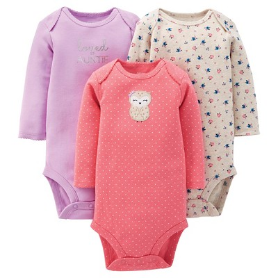 Just One You™ Made By Carter's® Newborn Girls' 3-Pack Bodysuit - Pink 9 M