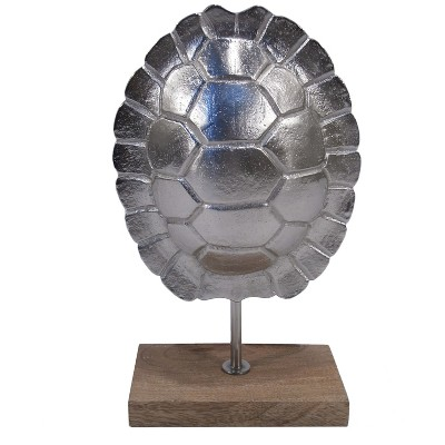 Threshold Silver Turtle Shell on Stand - Small