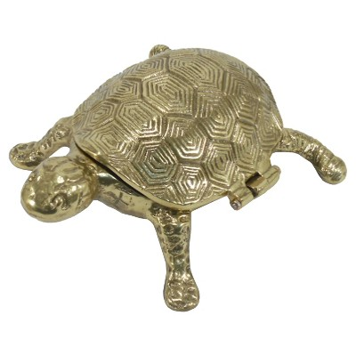 Threshold™ Aluminum Tortoise Decorative Box – Gold