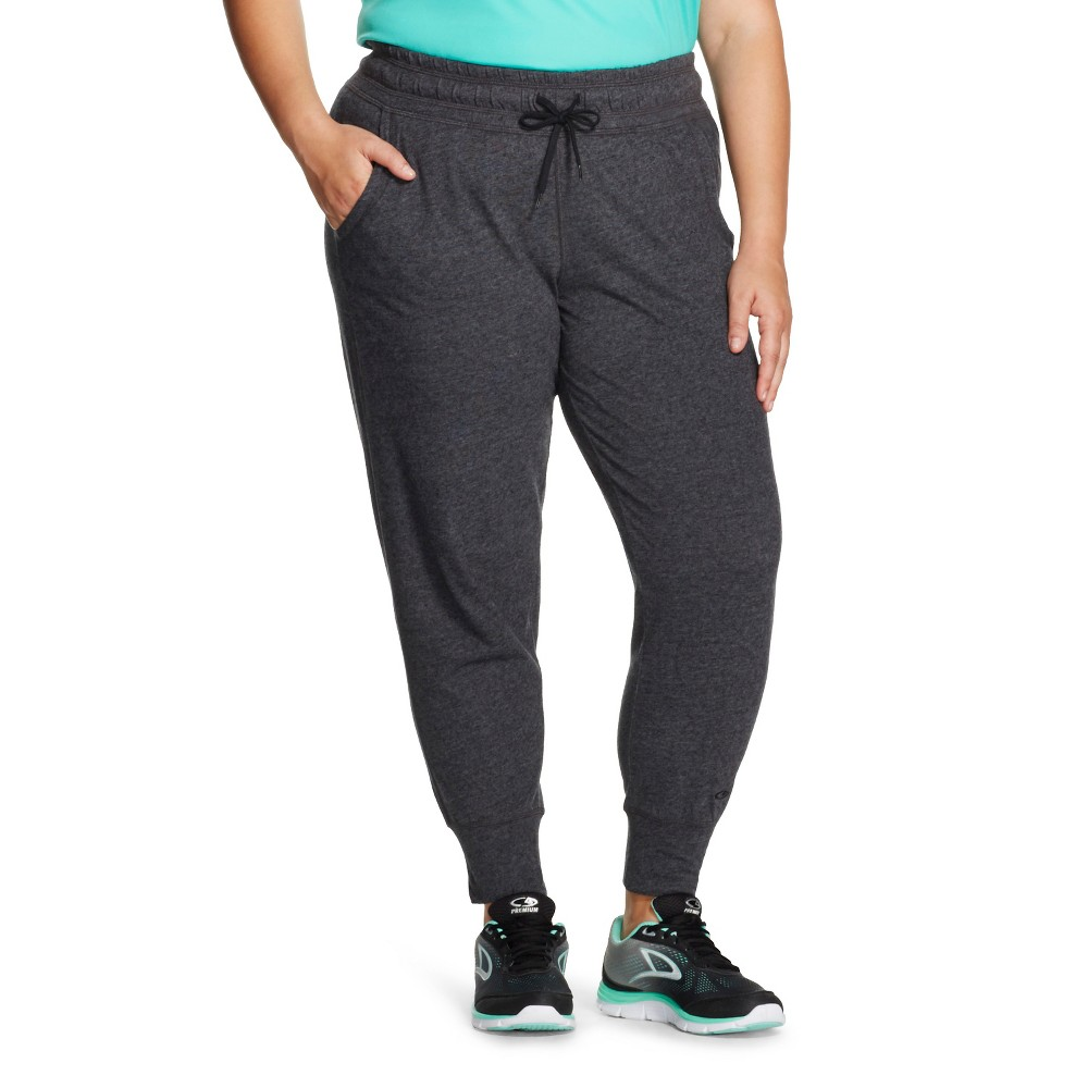 C9 Champion Women's Plus Size Active Pant Black Heather 1X